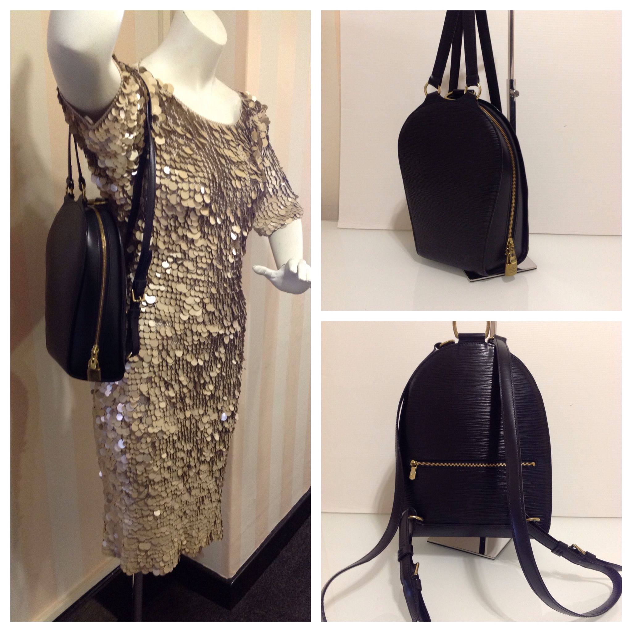Authentic Louis Vuitton Rare Black Epi Leather Mabillon Backpack with Dust  Bag £449 This is 8fcfaee4e2a89
