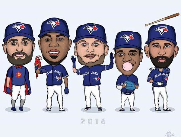 Love this SO much! - Cartoon Pillar, Encarnacion, Donaldson, Stroman, Bautista