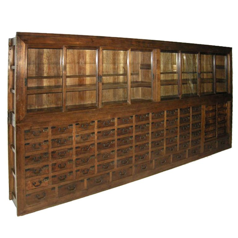 Cabinet Drawers · Very Large 19th Century Apothecary Chest