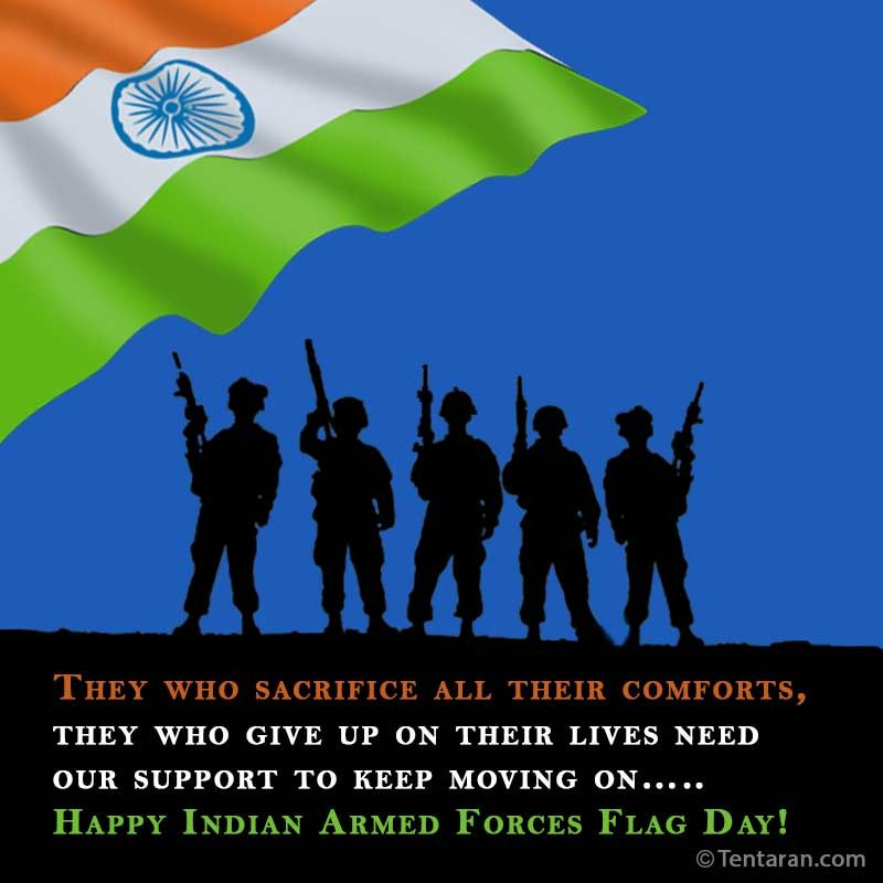 Indian Armed Forces Flag Day Images Quotes Whatsapp Status Wallpaper Armed Forces Flag Day Image Quotes Martyrs Day