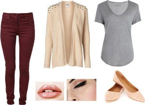 Combinaciones De Ropa Con Color Beige Ropa Combinar Colores Ropa Pantalones Vino