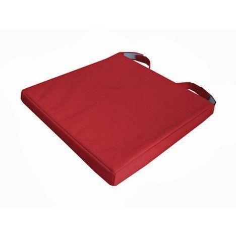 Galette de chaise imperméable Mona INSPIRE, rouge, l.40 x P ...