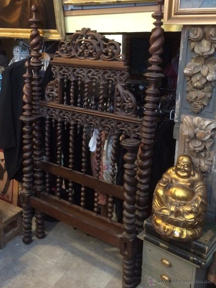cama portuguesa en madera tallada camas