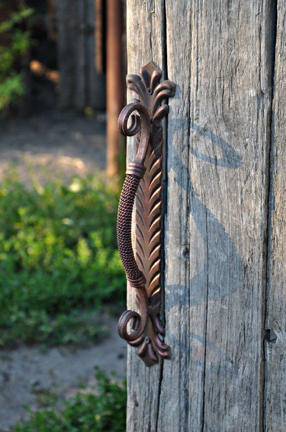 Wicket Gate Door handle Metal handle for wood door Wrought iron handle for the front door Furniture Rustik decor Home decor & Wicket Gate Door handle Metal handle for wood door Wrought iron ...