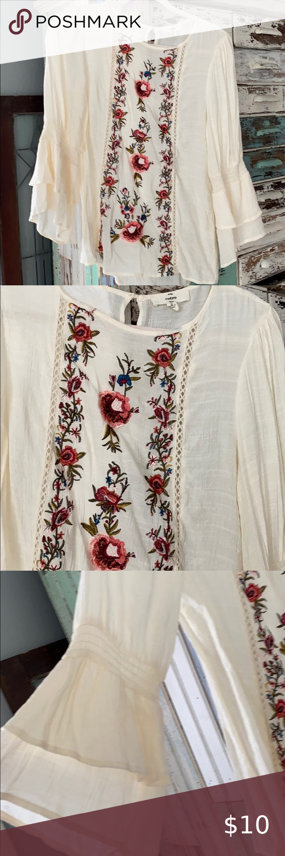 Entro top in 2020 Embroidered top, Tops, Clothes design