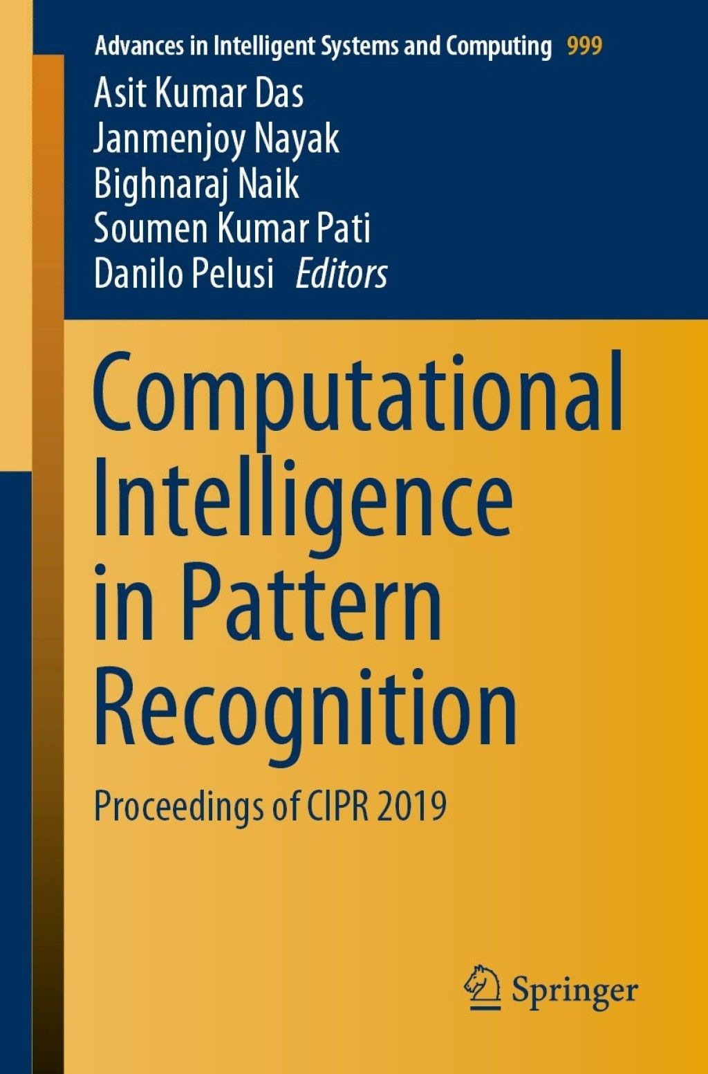 Computational Intelligence In Pattern Recognition Ebook