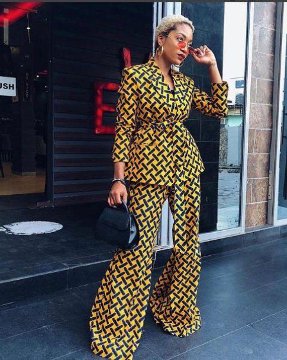 Ankara two piece african two piece ankara pallazo ankara jacket african dresses summer dresses fall dresses #afrikanischerstil