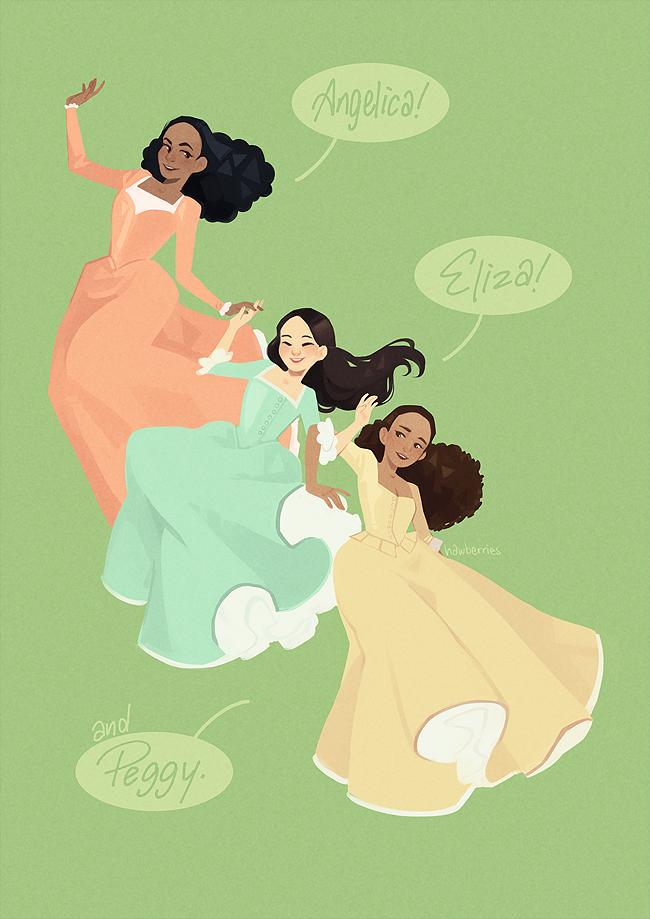 Print The Schuyler Sisters Hamilton Musical Hamilton Fanart Schuyler Sisters