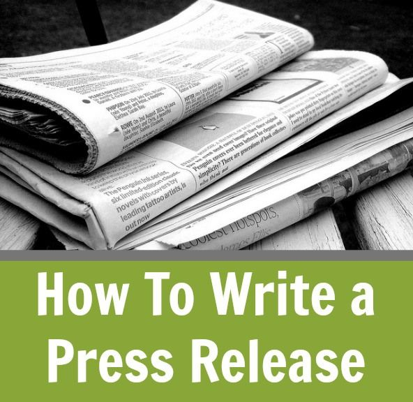 How to write a press release public relations business for How to write a craft book