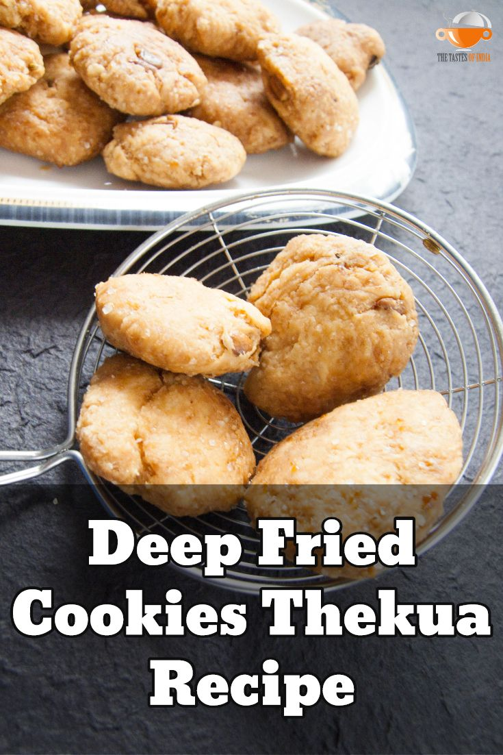 Thekua recipe is an easy, flaky tea-time sweet snack recipe with no preservative, yet can be stored and consumed for 15-20 days. Recipe at: http://thetastesofindia.com/deep-fried-cookies-thekua/ #deepfriedcookies #cookies #indiansnacks #thekua #kidsrecipes #recipes #snacks #snackrecipes #cookiesrecipe #thetastesofindia #thekua