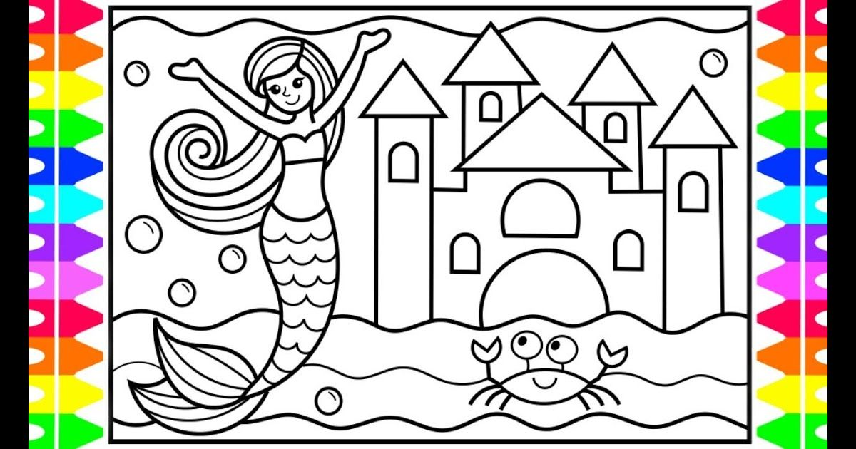 How To Draw A Mermaid For Kids Mermaid Drawing For Kids Mermaid Coloring Pages For Kids Best Co Mermaid Coloring Book Mermaid Coloring Mermaid Coloring Pages