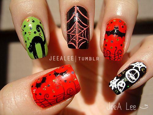 Halloween Nails Nails Lee Nails Fingernail Designs