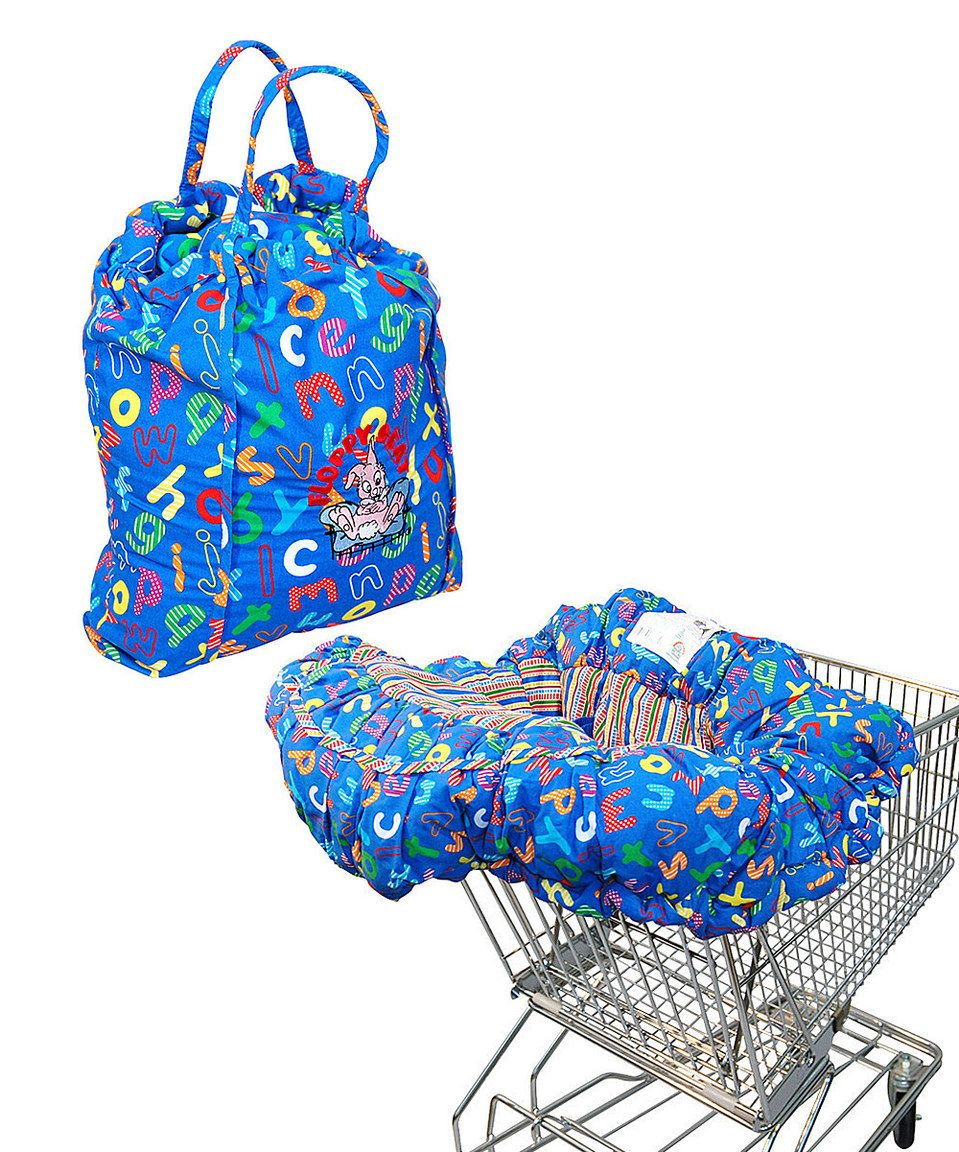This Floppy Seat Blue ABC EZ Carry Shopping Cart/High Chair Cover by ...