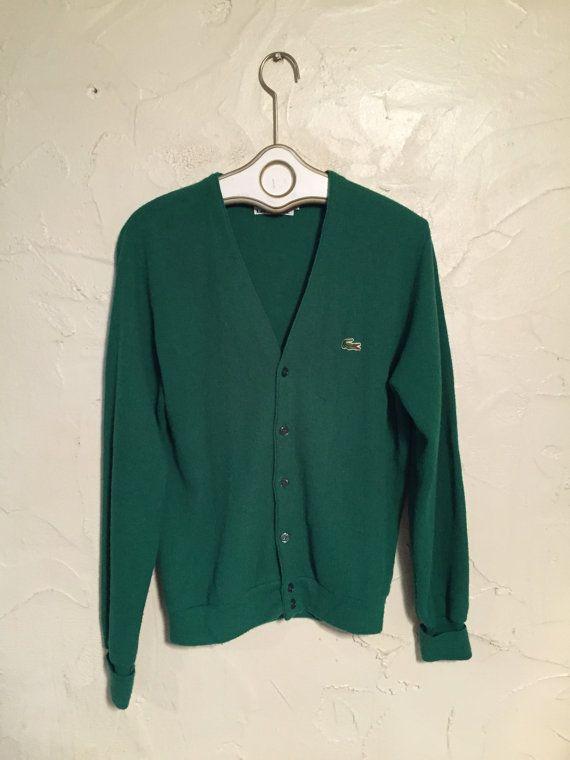 fb39698b Emerald Green Izod Lacoste Cardigan by MoonageVntg on Etsy ...