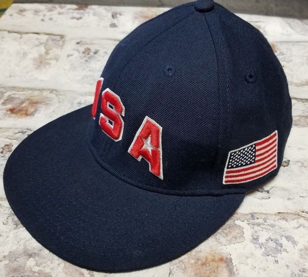 innovative design 6d25a b6713 Nike Dream Team USA Hat Olympics Basketball Cap 643 Fitted Hat Navy Size 7  1 8  Nike  USA