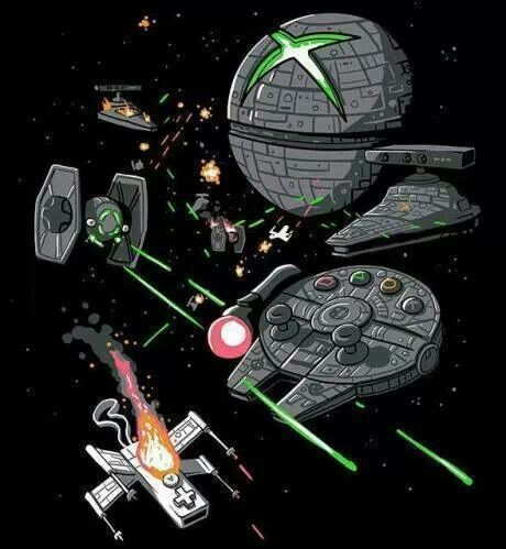 This is perfect Star Wars : Attack of the Consoles