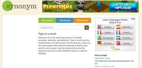 Synonym Http Www Synonym Com Thesaurus Words Antonyms Synonyms And Antonyms