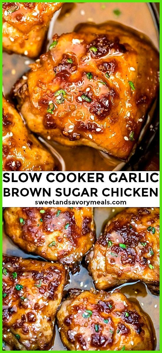 Slow Cooker Brown Sugar Garlic Chicken Slow Cooker Brown Sugar Garlic Chicken is the perfect weekni