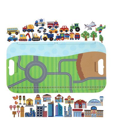 Another great find on #zulily! Transportation Magnetic Play Set #zulilyfinds