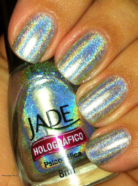 Jade holographic nail polish <3   Cool Nails   Pinterest ...