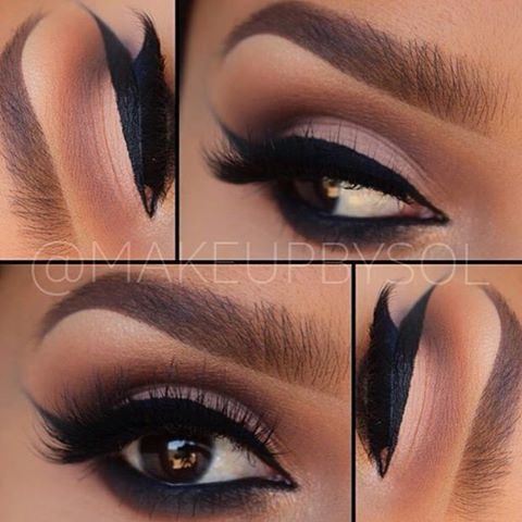 Warm tones and Thick eyeliner❤️ @makeupbysol created this Fall look with help of her Seonda Lace brushes✨ http://www.sedonalace.com/