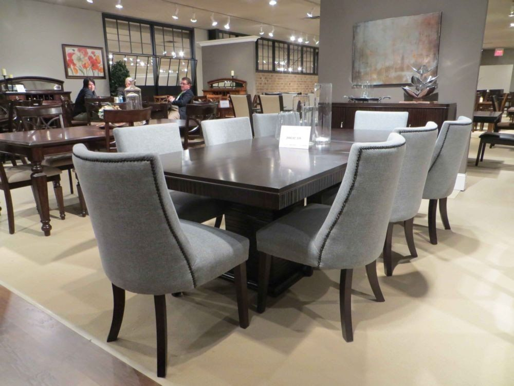 Merveilleux Chicago 2588 92 9PC Deep Espresso Pedestal Leaf Dining Table Set