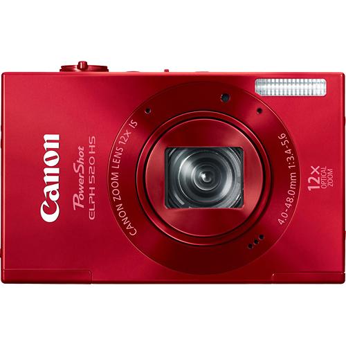 Canon Powershot Elph 520 Hs 10 1 Megapixel Digital Camera Red 6171b001 Best Buy Canon Powershot Elph Canon Digital Camera Digital Camera