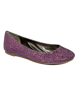 Kensie Girl Shoes Kandine Flats In Color Sugar Plum Glitter 4900