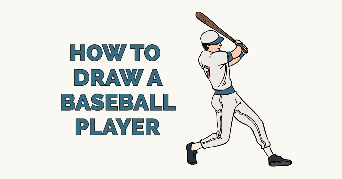 How To Draw A Baseball Player Drawing Tutorial Easy Easy