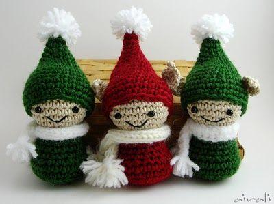 Tutorial Elfi Amigurumi : Amigurumi elves elfi folletti amigurumi holiday ideas