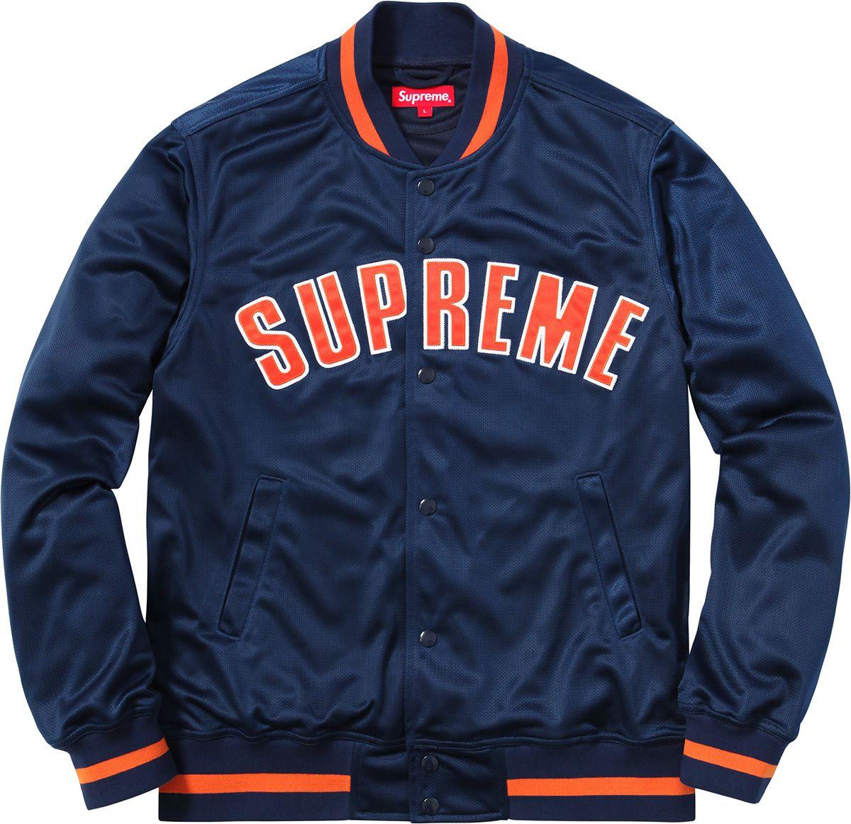 Supreme Mesh Varsity Jacket Leather varsity jackets