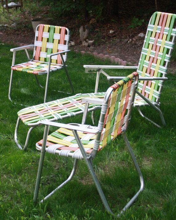 Retro Chairs Cheap: Retro Aluminum Woven Folding Patio Outdoor Furniture By