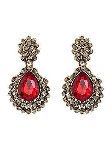 Vintage Red Chandelier Earrings Drop Bridal Earrings Page... https ...