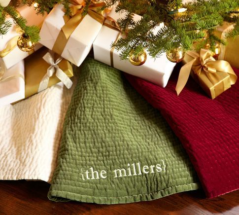 Channel Quilted Velvet Tree Skirt Tree skirts, Holidays and