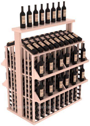 Wooden 300 Bottle Single Reveal Aisle Wine Cellar Rack Storage Kit