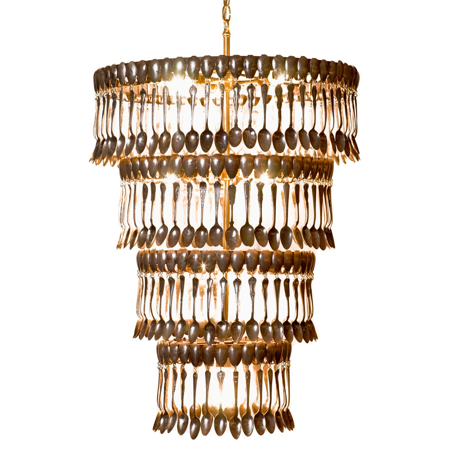 Quadruple Tier Spoon Chandelier @LaylaGrayce | Vintage ...