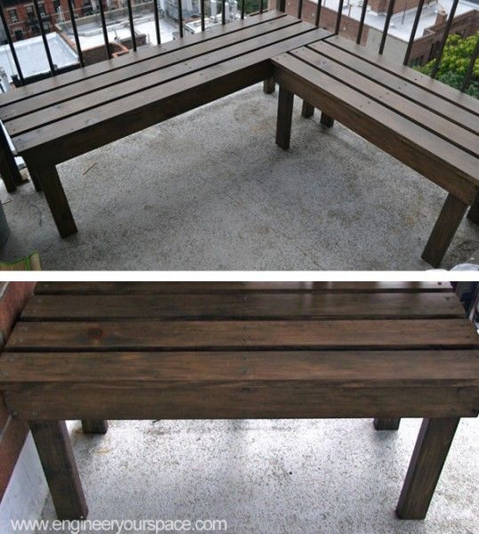 DIY Outdoor Wood Bench Mudroom ideas Pinterest Banquetas de - como hacer bancas de madera para jardin