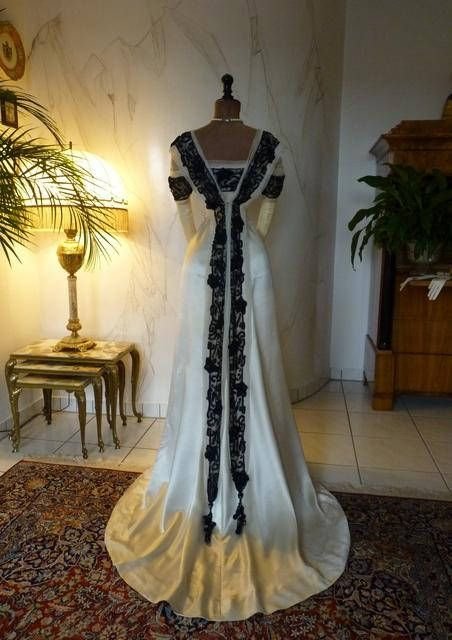 1906 HOOPER Ball Gown, antique dress, antique gown ...