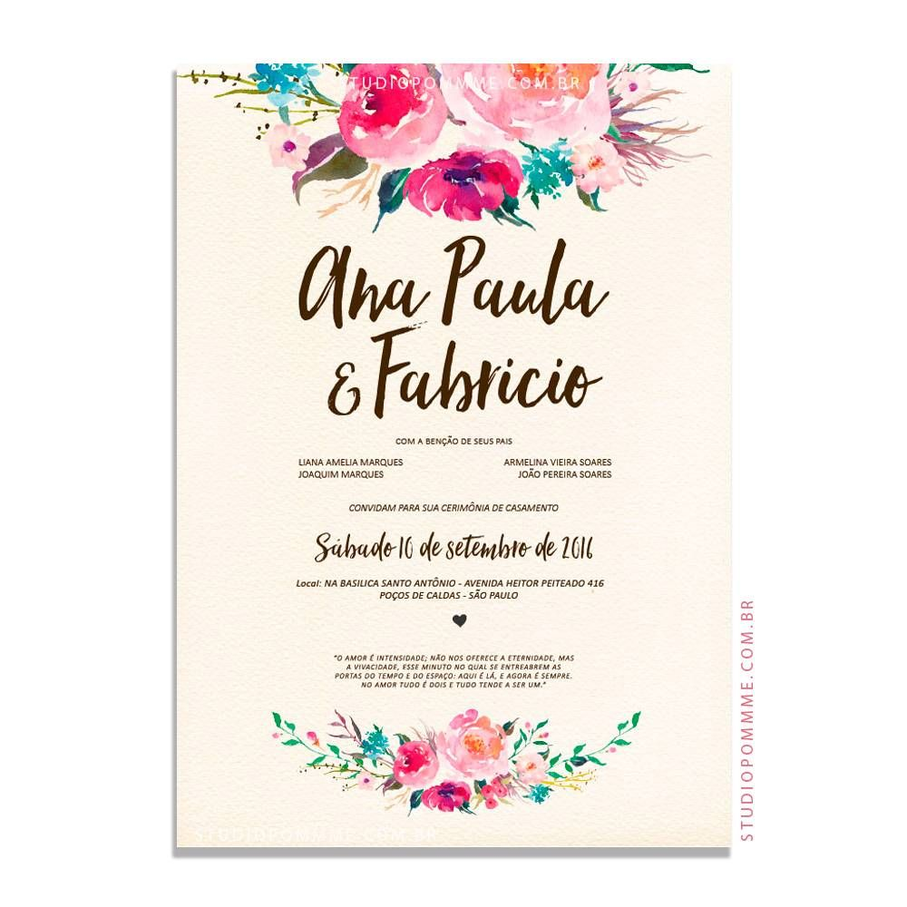 Artes Para Convite De Casamento Para Imprimir Convite De