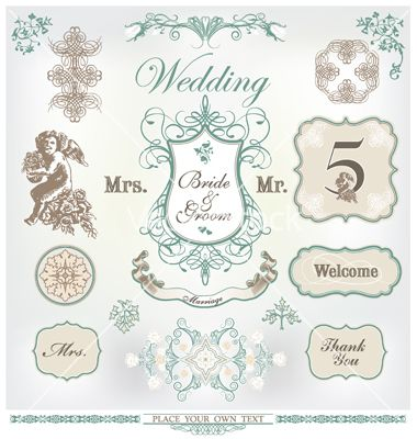 Design elements for wedding invites vector graphics design elements for wedding invites vector graphics junglespirit Image collections