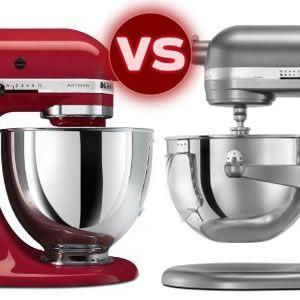 KitchenAid Artisan Stand Mixer vs. Professional 600 Series ...
