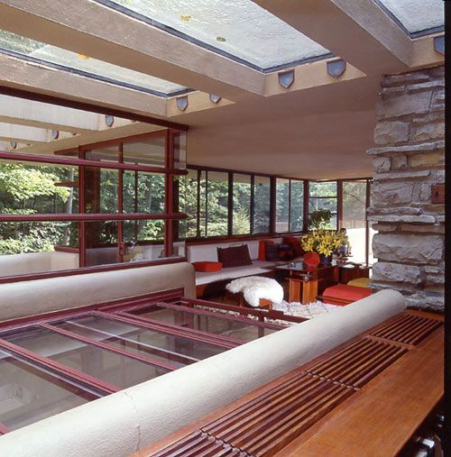 Ppg Pittsburgh Paint Fallingwater Color Series Frank Lloyd Wright Interior Falling Water Frank Lloyd Wright Fallingwater Interior