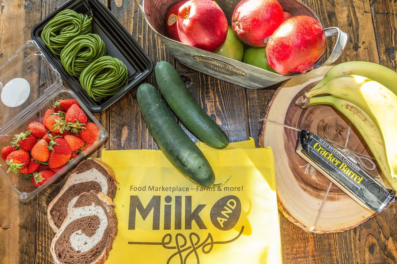 Milk and eggs is an labased company that connects local