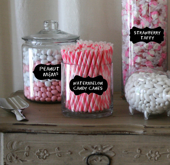 candy buffet labels mixed set of 54 parties weddings rh pinterest com apothecary glass jars for candy buffet clear glass jars for candy buffet