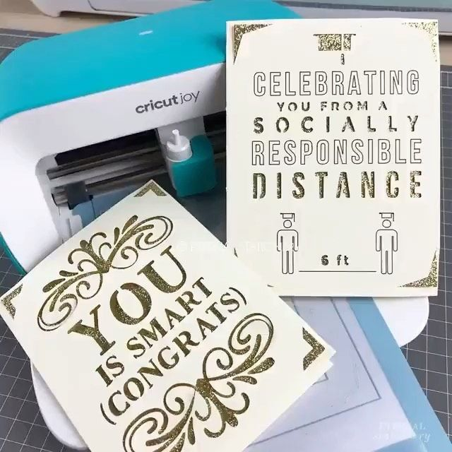 // GRADUATION CARD // Another Day, another Cricut Joy card using a template from Cricut Design Space. This time I used the app and the process was so much faster. - 👉🏼 Follow @diycraft.tutorials for more inspiration . . . #cricutjoy #cricutcreated #handmade #love #cricutcraft #cricutmadecrafts #cricutmakercrafts #cricutmademedoit #cricutmaker #cricut #cricutmade #cricutexploreair2 #videooftheday #cricutmachine #cricutcrafting #cricutcraft #cricutdesignspace #socialdistancing #instagood