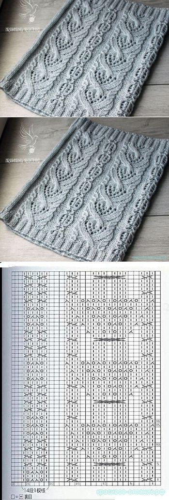 Красивое вязание   Снуд спицами