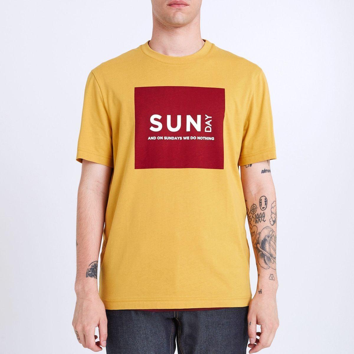 tee shirt col rond semainier