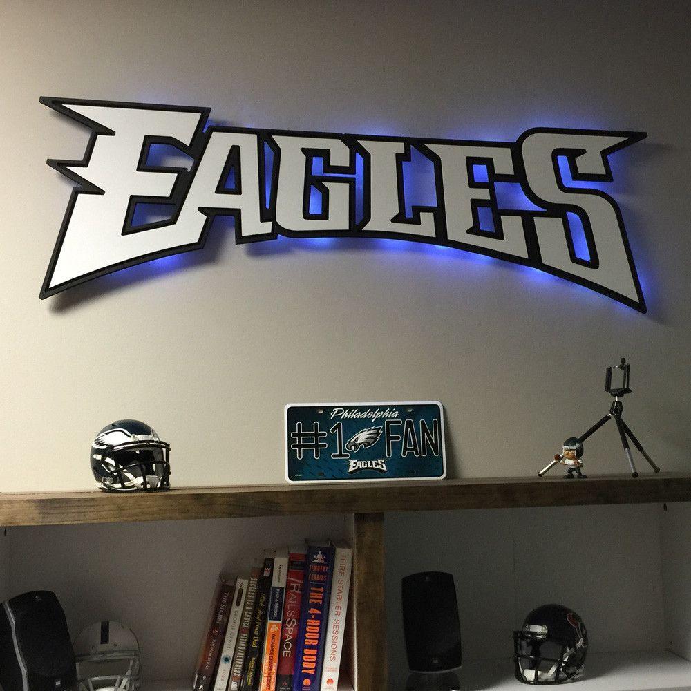 The Philadelphia Eagles Script Logo Wood Cutout is an