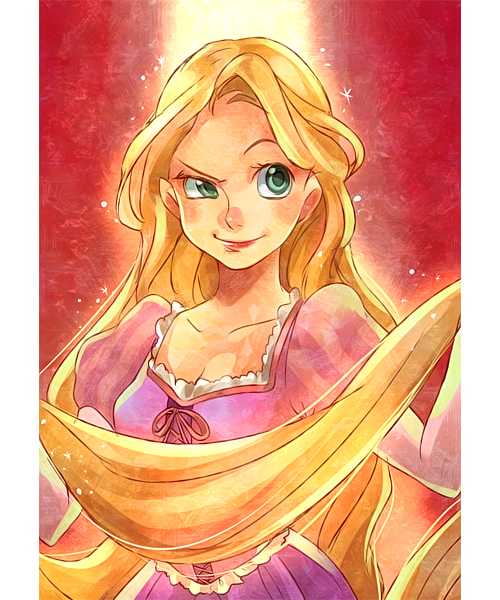 Beautiful picture of Rapunzel
