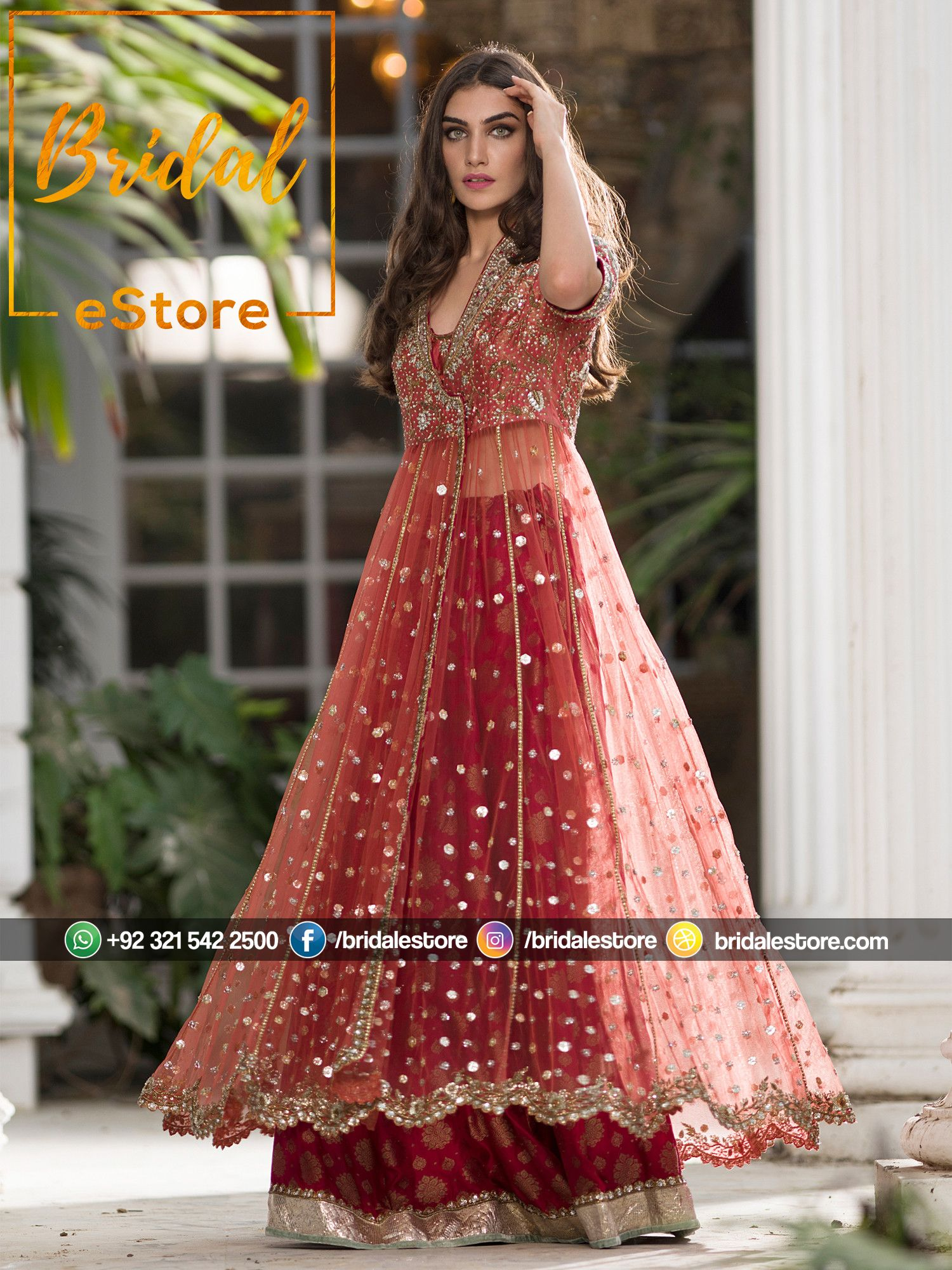 6106955b7cd Angrakha Style Engagement Dress with with Lehenga in 2019